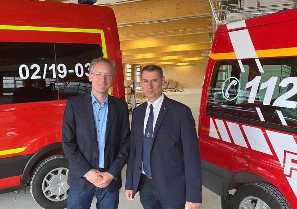 Richtfest der neuen Hauptwache der Feuerwehr in Eisenhüttenstadt